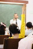 Competition between children at classroom — Stock Photo