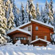 Winter beautiful snow house in forest - Stock Photo