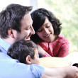 Father and his children having good time at home — Stock Photo #10420843