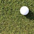 Golf ball on grass field — Stok fotoğraf
