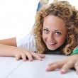 Teen blond happy girl smiling — Stock Photo #10421034