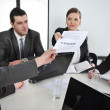 Giving a task at business meeting — Stock Photo #10421988