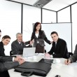 Business woman making the presentation at office — Stockfoto