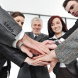 Group of business with hands together for unity and partnership — Stock Photo #10422086