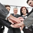 Group of business with hands together for unity and partnership — ストック写真