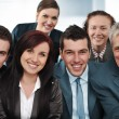 Stock Photo: Closeup business group of six