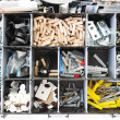 Royalty-Free Stock Photo: Toolbox with arranged screws