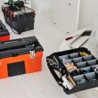Toolbox with instruments and equipment for work - Stock Photo