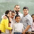 Children at school classroom — Stock Photo #10422495