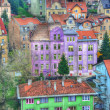 Colorful buildings city - Stock Photo