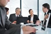 Trabalho e reunião de negócios — Fotografia Stock