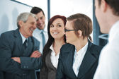 Happy smiling business team — Stock Photo