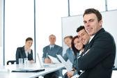 Konferans salonu iş grubu — Stok fotoğraf