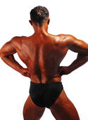 Bodybuilder back — Stock Photo