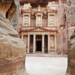 The imposing Monastery in Petra, Jordan - Stock Photo
