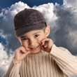 Boy with denim cap — Stock Photo #8843919