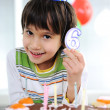 Child birthday, 6 years old — Stock Photo #8843924