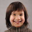 Schoolboy, series of clever kid 6-7 years old with facial expres — Stock Photo