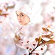 Stock Photo: White beautiful geisha