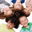 Stock Photo: Happy four children together in circle