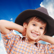 Beautiful little boy with hat on head — Stock Photo #8844577