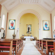 Modern church inside - Stock Photo