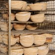 Stock Photo: Pots for bread inside the factory