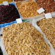 Stock Photo: Dried fruits on market place, piazza, bazaar