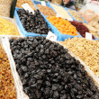 Natural organic food on market place, piazza, bazaar — Stock Photo