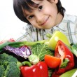 Child and fresh vegetables — Stock Photo #8845116