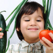 Child and fresh vegetables — Stock Photo #8845135