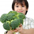 Child and fresh vegetables — Stock Photo #8845139
