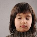 Schüler, Junge Reihe von clever 6-7 Jahre alt mit Mimik — Stockfoto