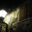 Old street with lamp — Stock Photo
