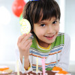 Child birthday, 6 years old - Stock Photo