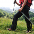 Walking up to mountain hills, sport adventures — Stock Photo