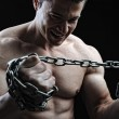 The Perfect male body - Awesome bodybuilder posing — Stock Photo