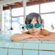 Summertime and swimming activities for happy children on the pool — Stock Photo #8846450