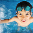 Summertime and swimming activities for happy children on the pool — Stock fotografie