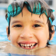 Summertime and swimming activities for happy children on the pool — Stok fotoğraf