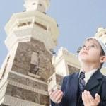 On holy islamic duty in Makka, Saudi Arabia — Stock Photo