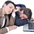 Businesspeople falling asleep — Foto Stock
