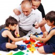 Stock Photo: Playing with kids