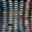 Shirt shelfs, fashion colored shirts — Stock Photo #8848301