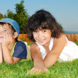 Stock Photo: Beautiful green place and children activities