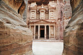 The imposing Monastery in Petra, Jordan — Стоковое фото