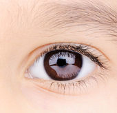 Child macro closeup eye — Stock Photo