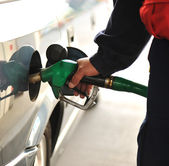 The car on a filling station — Stock Photo