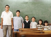 School student generations steps, from preschooler to university — Stock Photo