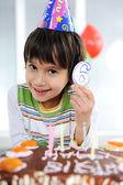 Child birthday, 6 years old — Stock Photo